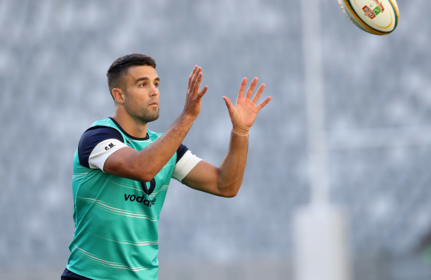 Conor Murray with the ball during training