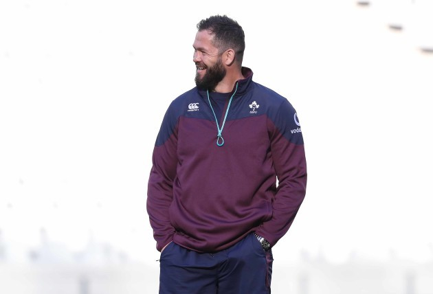 Assistant coach Andy Farrell during training