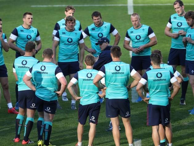 Ireland head coach Joe Schmidt  during training