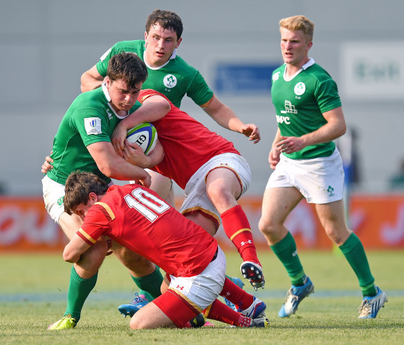 Conor O'Brien is tackled