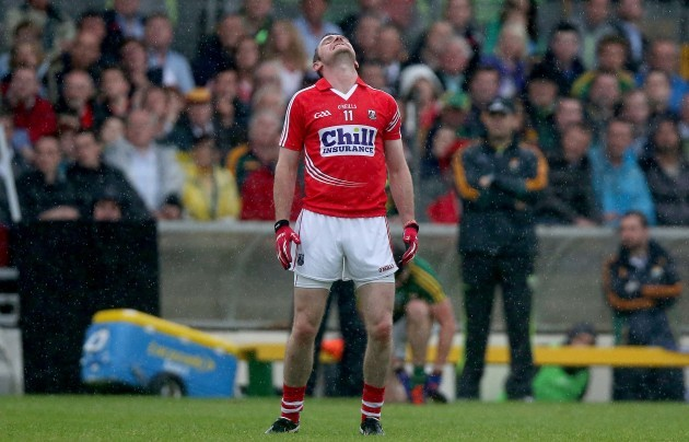 Donncha O'Connor reacts after missing a chance