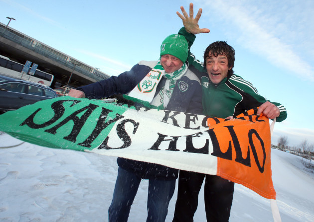Davy Keogh from Dublin and Euan Traynor from Monaghan