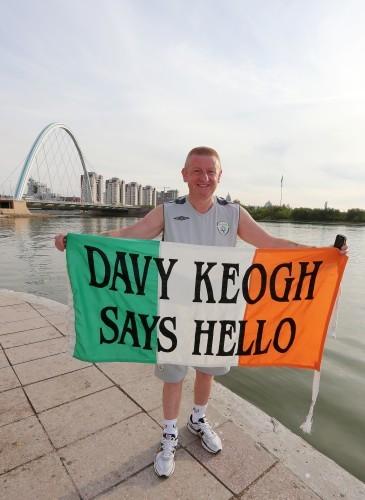 Republic of Ireland fan Davy Keogh