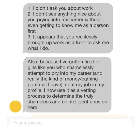 A dating app brilliantly shut down a lad who accused a woman