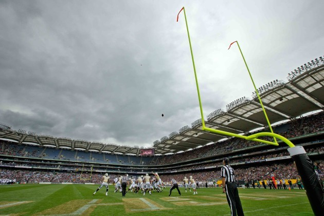 A general view of the game between Penn State and University of Central Florida in Croke Park