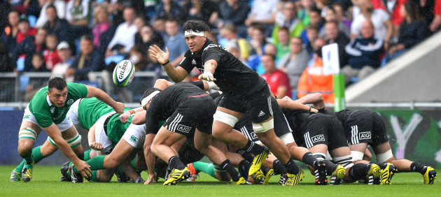 Sosefo Kautai gets the ball away from the scrum