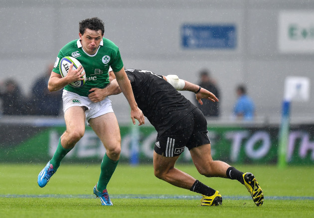 Hugo Keenan is tackled by Mitchell Jacobson