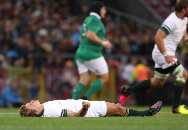Springboks Pat Lambie injured after colliding with CJ Stander