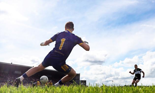 Adrian Marren scores a penalty