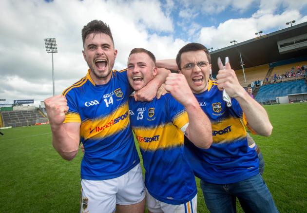 Michael Quinlivan and Kevin O'Halloran celebrate