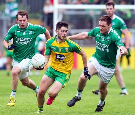 Ryan McHugh with Declan McCusker and Richard O'Callaghan