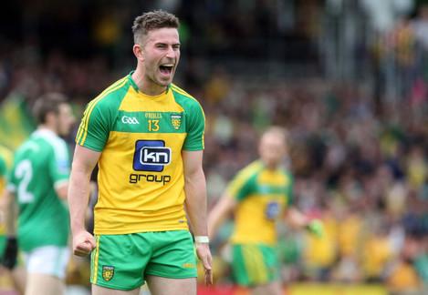 Patrick McBrearty celebrates his side's second goal