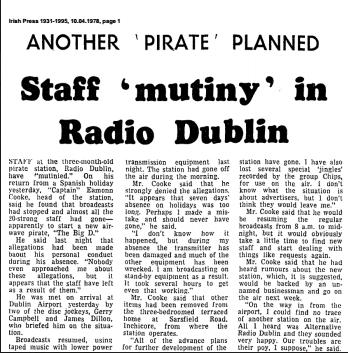 Irish Press article