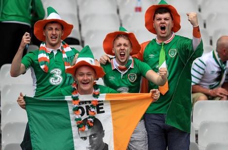 Ireland supporters inside the stadium