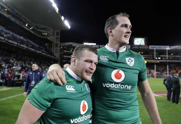 Ireland's Jack McGrath and Devin Toner