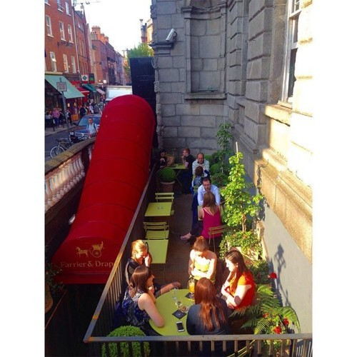 Our front terrace area is the perfect spot for a glass of wine or 3 in the sun after a hard days work!