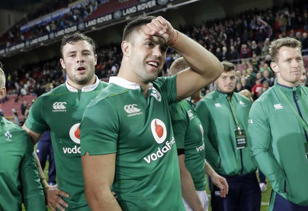 Conor Murray celebrates after the match