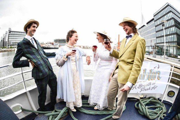 Sam Ford, Hannah Crowley, Caitriona Moloney & Robbie Doyle enjoying the Bloomsday Cruise in Dublin Bay.