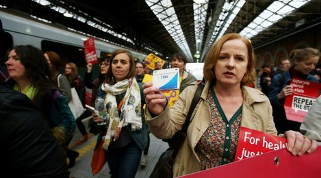 Abortion Protest in Dublin