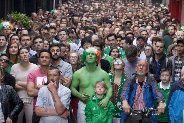 13/6/2016. Irish Soccer Fans
