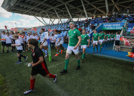 James Ryan leads out his team