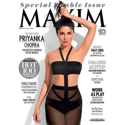 My new cover! Thank you @maxim.india #pctopsmaximhot100 #maximhot100 @stephaniebbmakeup @tedgibson