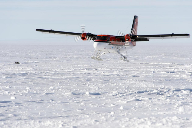 Twin Otters of Kenn Borek Air flying missions in Antarctica ‪#‎runwaynotneeded‬