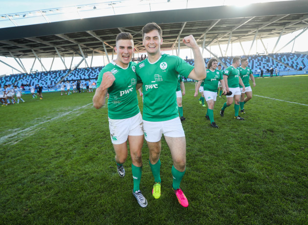 Shane Daly and Conor OÕBrien celebrate