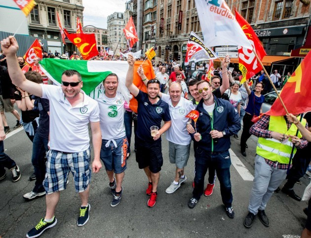 Irish fans in Lille today