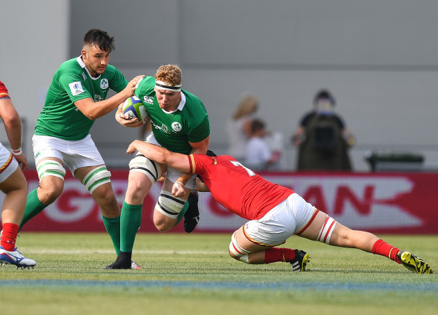 Cillian Gallagher is tackled
