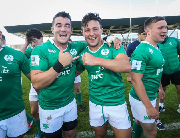 Kelvin Browne and Niall Saunders celebrate