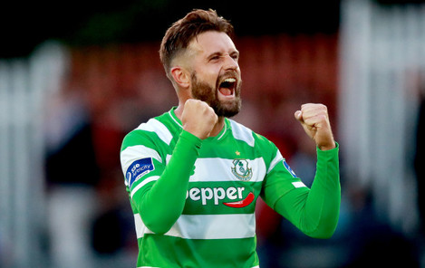 Stephen McPhail celebrates after the game