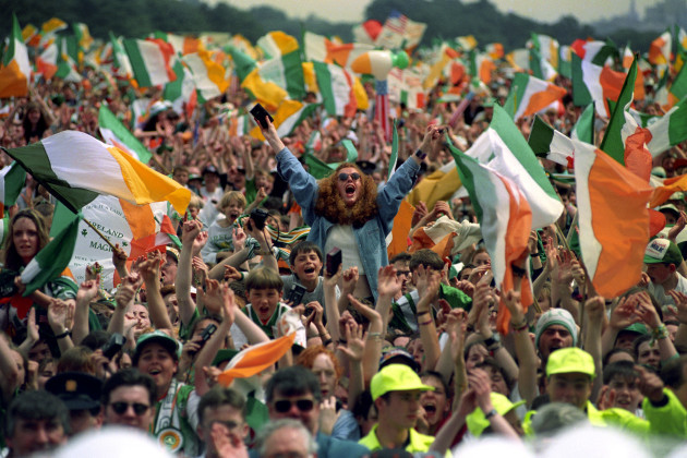 ECSTATIC WELCOME FOR IRELAND TEA