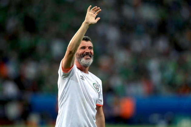 Roy Keane at the end of the game