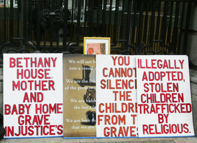 25/9/2014. Mother and Babies Homes Protests