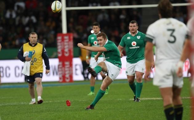 Paddy Jackson kicks a penalty