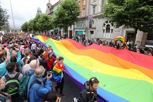 25/6/2016. Gay Pride Parade Dublin. The Gay Pride