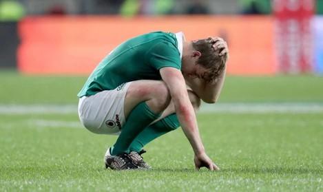Andrew Trimble dejected