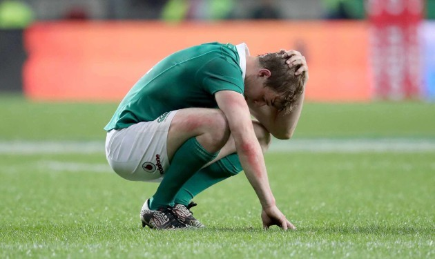 Andrew Trimble dejected