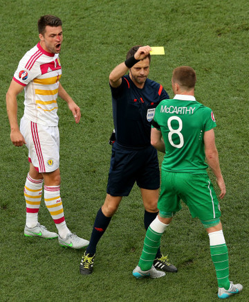 Nicola Rizzoli yellow cards James McCarthy
