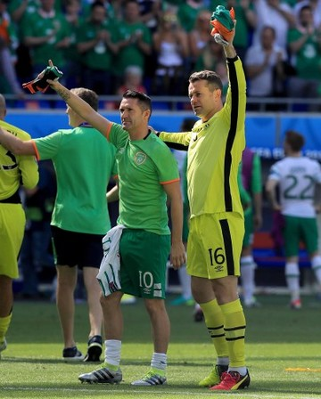 Robbie Keane and Shay Given
