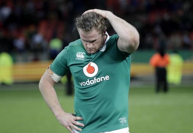 Jamie Heaslip dejected