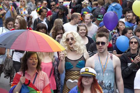 25/6/2016. Gay Pride Parade Dublin. Gay Pride supp