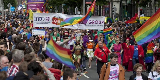 25/6/2016. Gay Pride Parade Dublin. The INTO LGBT