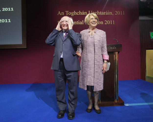 28/10/2010.Labour Partys Michael D Higgins on stag