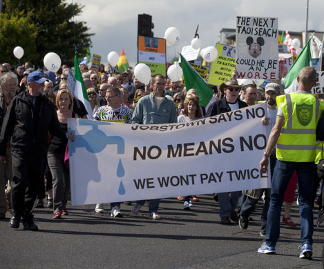 29/8/2015. Anti Water Charges Campaigns Protests