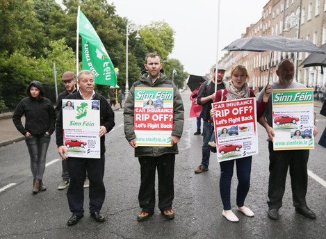 02/07/2016. Car Insurance Protest. Pictured around