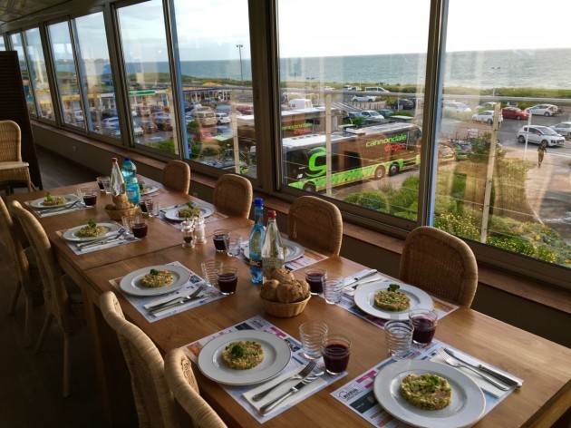 the-opening-stages-of-this-tour-de-france-are-taking-place-in-normandy-along-the-northern-coast-by-the-english-channel-the-riders-have-a-good-view-from-their-dining-table-each-day-for-breakfast-and-dinner-