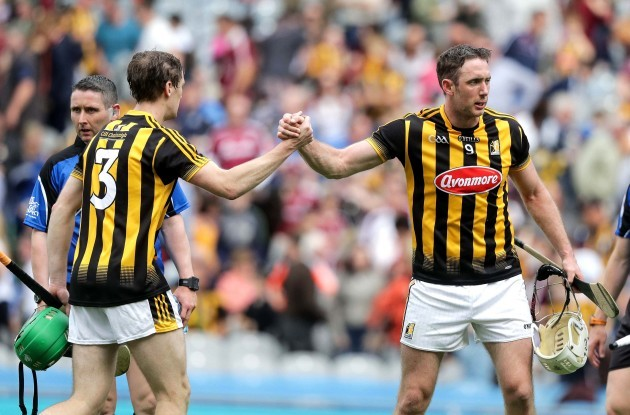 Michael Fennelly and Joey Holden celebrate after the game