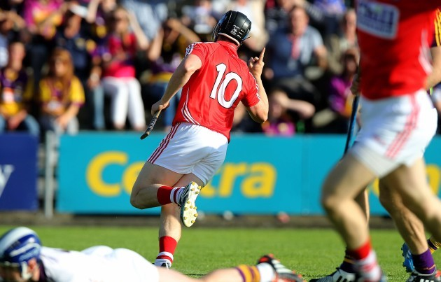 Conor Lehane celebrates scoring the first goal of the game
